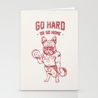 GO HARD OR GO HOME FRENC… Stationery Cards