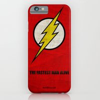 iPhone & iPod Case featuring Flash (Super Minimalist series) by Itomi Bhaa