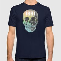 HUMAN EXTINCTION Mens Fitted Tee Navy SMALL