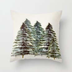Evergreen Tree Tapestry Throw Pillow