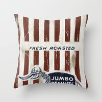 Jumbo Peanuts Throw Pillow