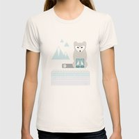 Kettu the Arctic Fox Womens Fitted Tee Natural SMALL