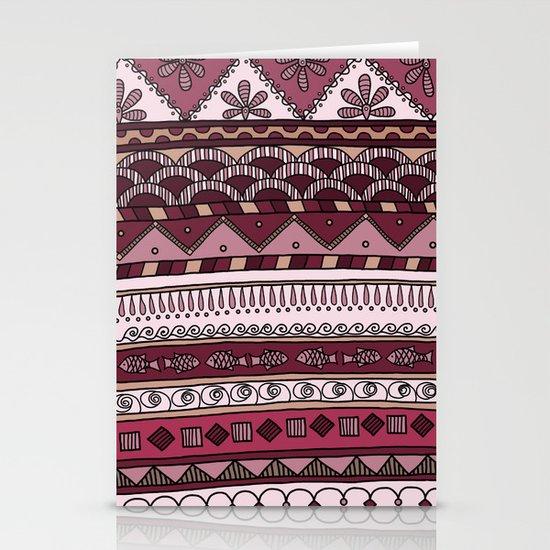 Yzor pattern 004 lilac Stationery Card