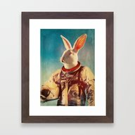 Framed Art Print featuring Through The Looking Glas… by Rubbishmonkey