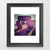 Stones on Perranuthnoe Beach Part 2 Framed Art Print