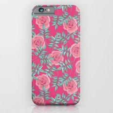 Roses Pink Slim Case iPhone 6s