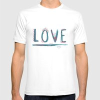 Love Love Love Mens Fitted Tee White SMALL