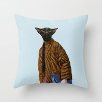 Mrs. Border Throw Pillow