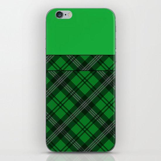 Scottish Plaid (Tartan) - Green iPhone & iPod Skin