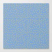 Yellow Pit on Blue /// www.pencilmeinstationery.com Canvas Print