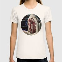 Mako Shark Of Dark Water… Womens Fitted Tee Natural SMALL