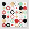 Summer Circles Canvas Print