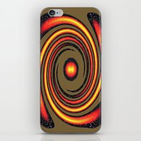 Spiral Fire in abstract iPhone & iPod Skin