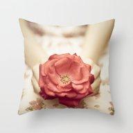 Rose In Her Hands III Throw Pillow