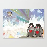 Baby Penguins Canvas Print