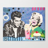 James and Marilyn  Canvas Print