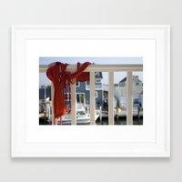 Line dry Framed Art Print