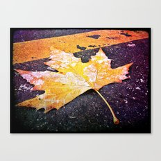 Frozen Leaf Canvas Print
