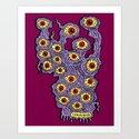 Many Eyes Monster Art Print