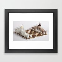 Cookies And Milk Chess S… Framed Art Print