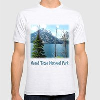 Grand Teton national Park landscape photography Mens Fitted Tee Ash Grey SMALL