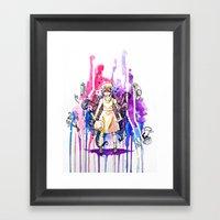 I'm Stronger Than My Fea… Framed Art Print