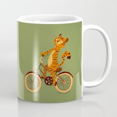 Tiger on the bike Mug