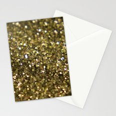 Gold sparklies Stationery Cards