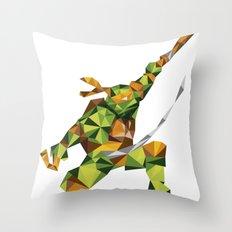 Nunchaku Turtle Throw Pillow