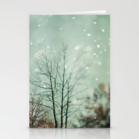 First Snowfall  Stationery Card