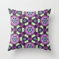 Kaleidoscope - Floral Fantasy Throw Pillow