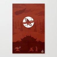 Avatar Book Fire - Version 2 Canvas Print