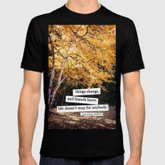 perks of being a wallflower - life doesn't stop for anybody Mens Fitted Tee Black SMALL