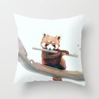 A Winter Morning Song Throw Pillow