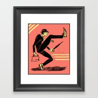 Silly Walk Framed Art Print