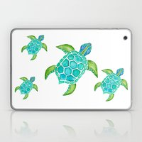 Watercolor Sea Turtle Laptop & iPad Skin
