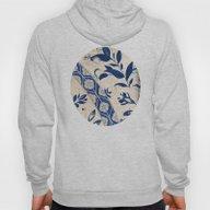 Blue Oriental Vintage Pa… Hoody