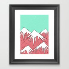 The mountains and the sky  Framed Art Print