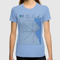 Milwaukee Transit System… Womens Fitted Tee Athletic Blue SMALL