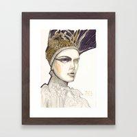 Portrait Illustration In… Framed Art Print