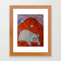 Pigs In Poppies Framed Art Print