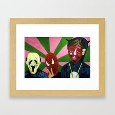 Spiderman, the Devil and Friend Framed Art Print