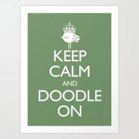 Keep Calm & Doodle On (G… Art Print