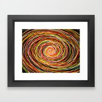 Red and Yellow Then Came to Me Framed Art Print