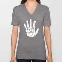 Talk To The Hand Unisex V-Neck