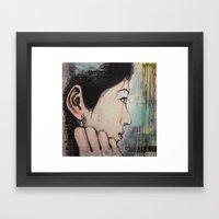 Waiting Game Framed Art Print