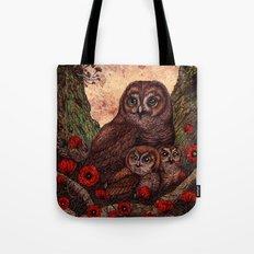 Tawny Owlets Tote Bag