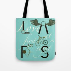 Love at First Sight and Bicycle Tote Bag