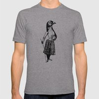The Fencing Pigeon Mens Fitted Tee Athletic Grey SMALL