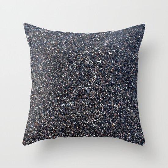 Black Sand I Throw Pillow